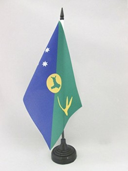 Christmas Island Table Flag 5'' x 8'' - Christmas Islander Desk Flag 21 x 14 cm - Black Plastic Stick and Base