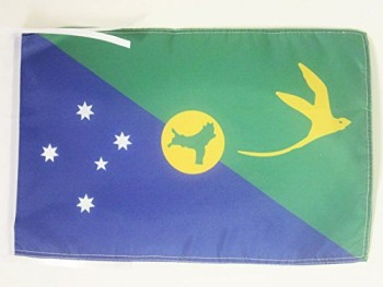Christmas Island Flag 18'' x 12'' Cords - Christmas Islander Small Flags 30 x 45cm - Banner 18x12 in