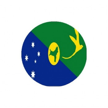 Christmas Island Flag Round Coasters - Set of 4