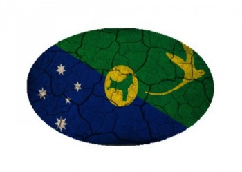 Christmas Island Flag Crackled Design Oval Magnet - Great for Indoors or Outdoors on Vehicles