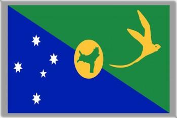 GIFTSCITY CHRISTMAS ISLAND FLAG FRIDGE MAGNET REFRIGERATOR MAGNET