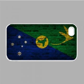Christmas Island Flag Brick Wall iPhone 4s White Case