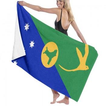 Linshuqidianzi Bath Sheets Christmas Island Flag Pride Quick Fast Drying Bath Towels Sets For Bath Travel Pool