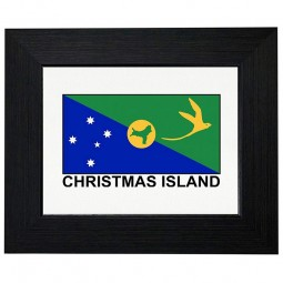 Royal Prints Christmas Island Flag - Special Vintage Edition Framed Print Poster Wall or Desk Mount Options