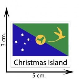 Christmas Island Flag Temporary Tattoos Sticker Body Tattoo